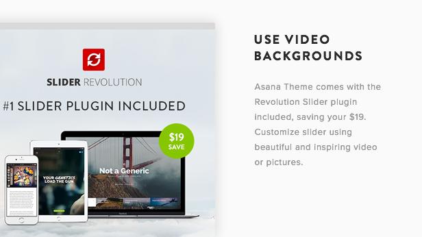 Imagen de presentación del tema de Asana WordPress