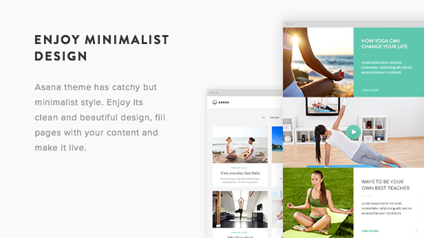 Asana WordPress Theme Presentation Image