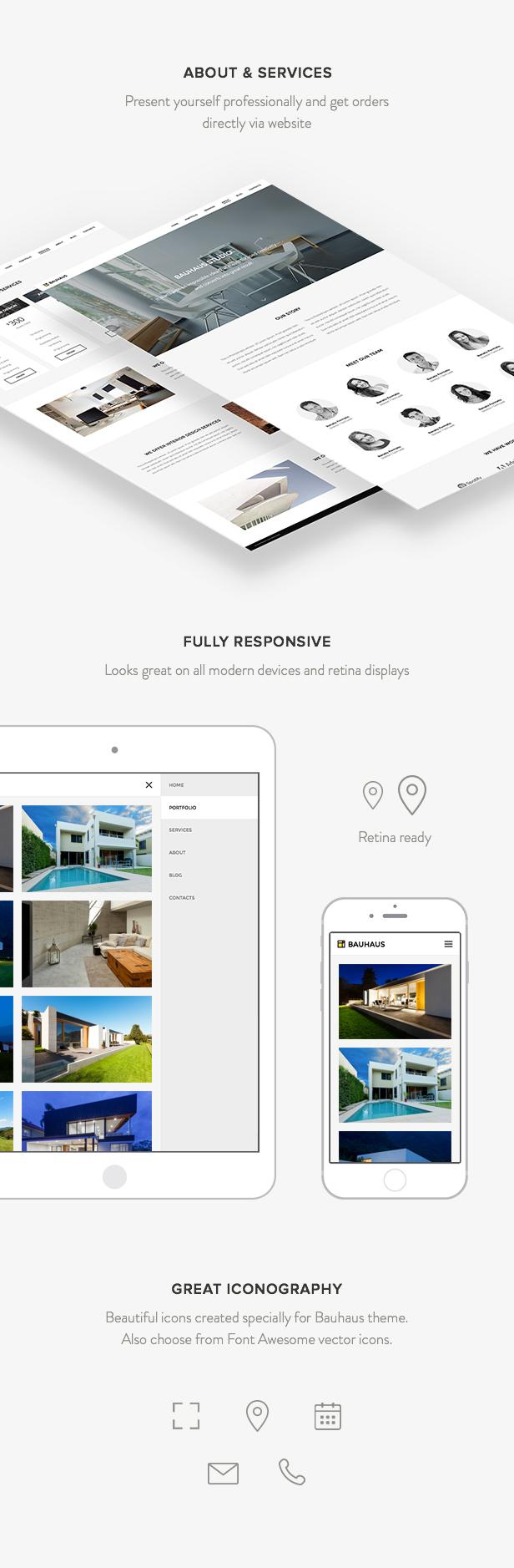 Bauhaus - Tema de WordPress Arquitectura y portafolio - 3